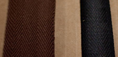 Fabric edge trim & binding; edge trims for shades, woven woods, panel tracks